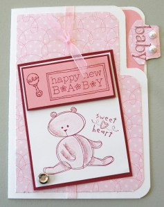 Tiffany's baby card