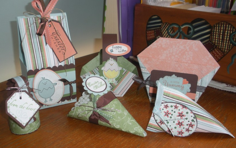 Project Class for February - Easter Gift Packaging x 6