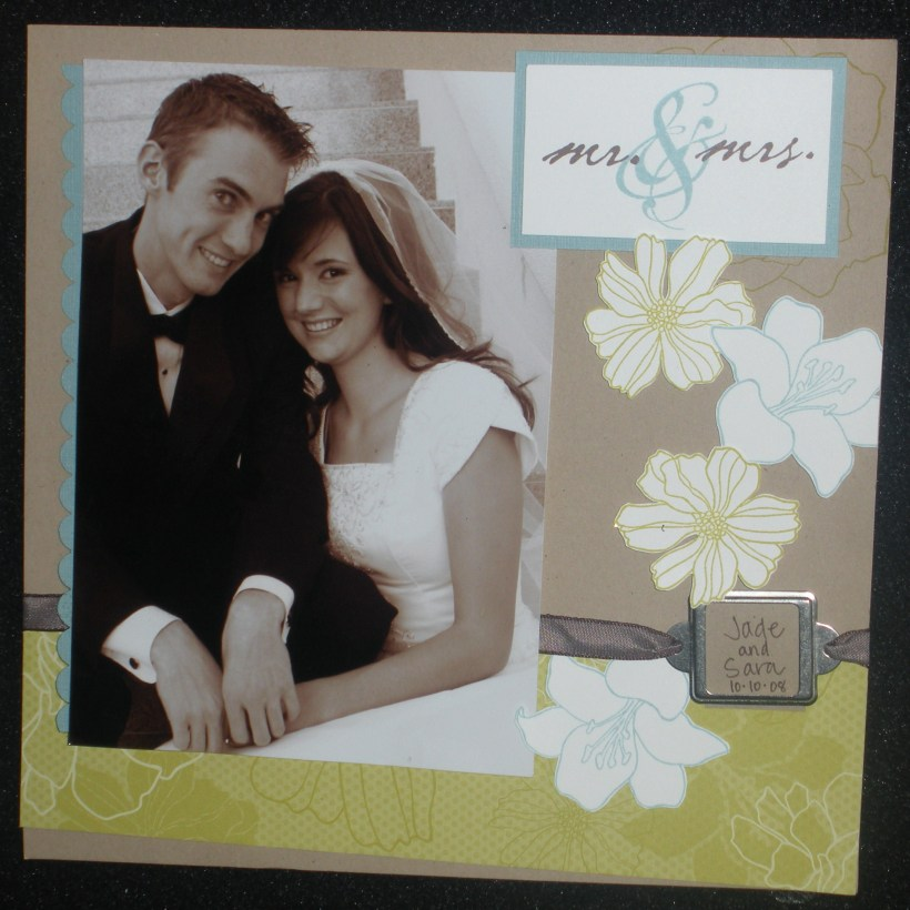 """I just adore this one! Flowers - """"Fifth Avenue Floral"""" Phrase - """"Together Forever"""" DSP - """"Urban Oasis"""" (matches the FAF stamp set). What a gorgeous colour combination!"""