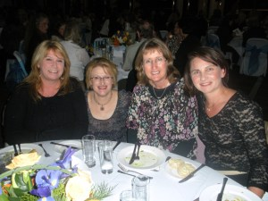 Andrea, Ness, Julie, Tracey at the awards banquet