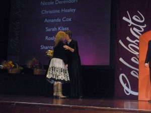 Andrea with Shelli - Award Ceremony