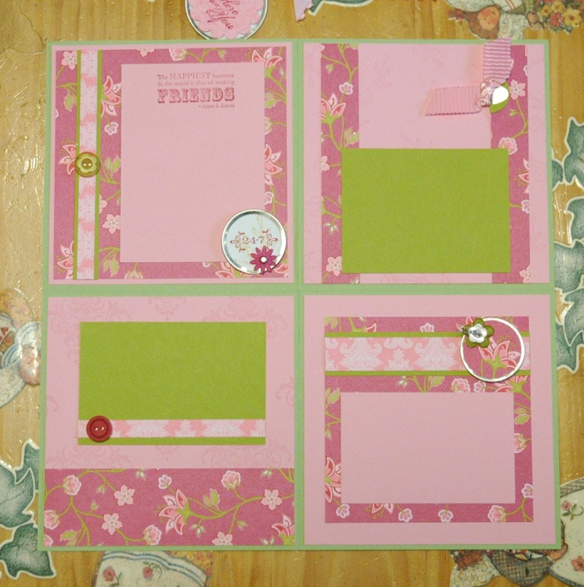 Folding Scrapbook - Friends 24/7 inside