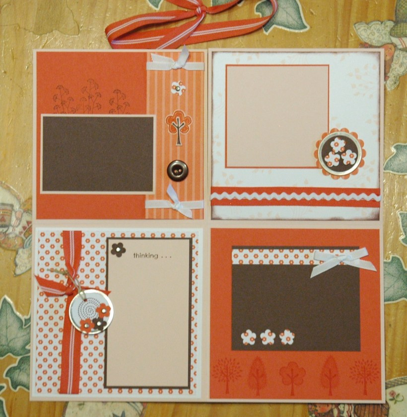 Folding Scrapbook - Trendy Trees inside