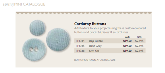 Corduroy Buttons
