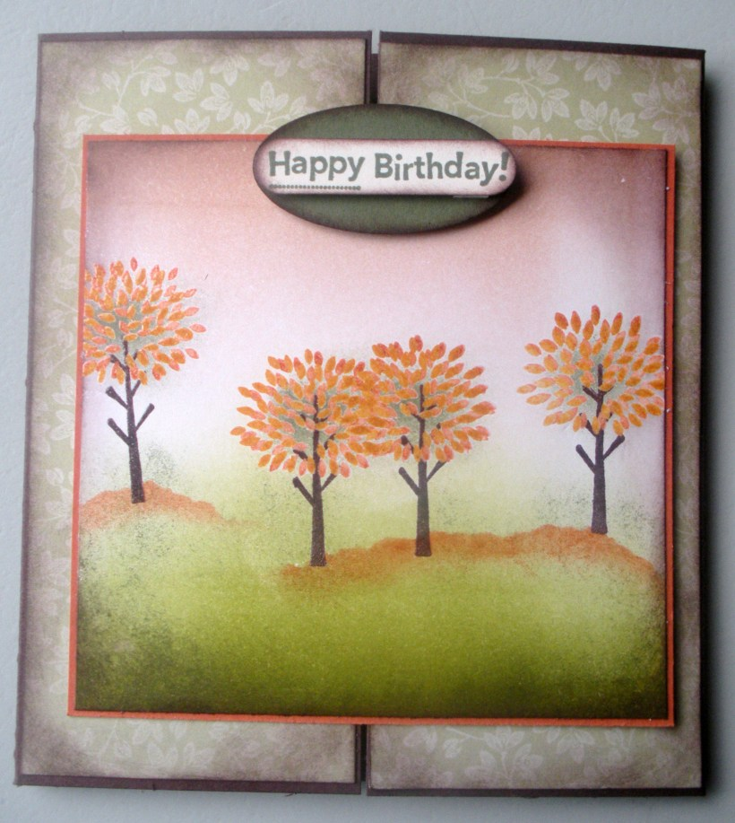 Trendy Trees Brayer Gatefold
