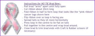 No Tie Brad Bow Instructions
