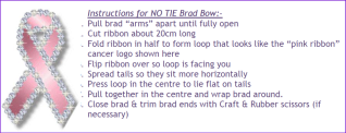 No Tie Brad Bow Instructions