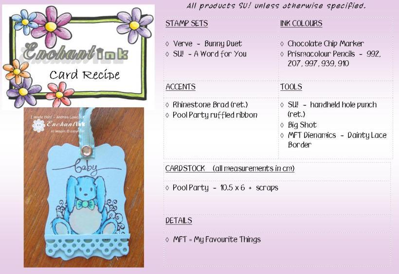Bunny Duet JIH'13 recipe