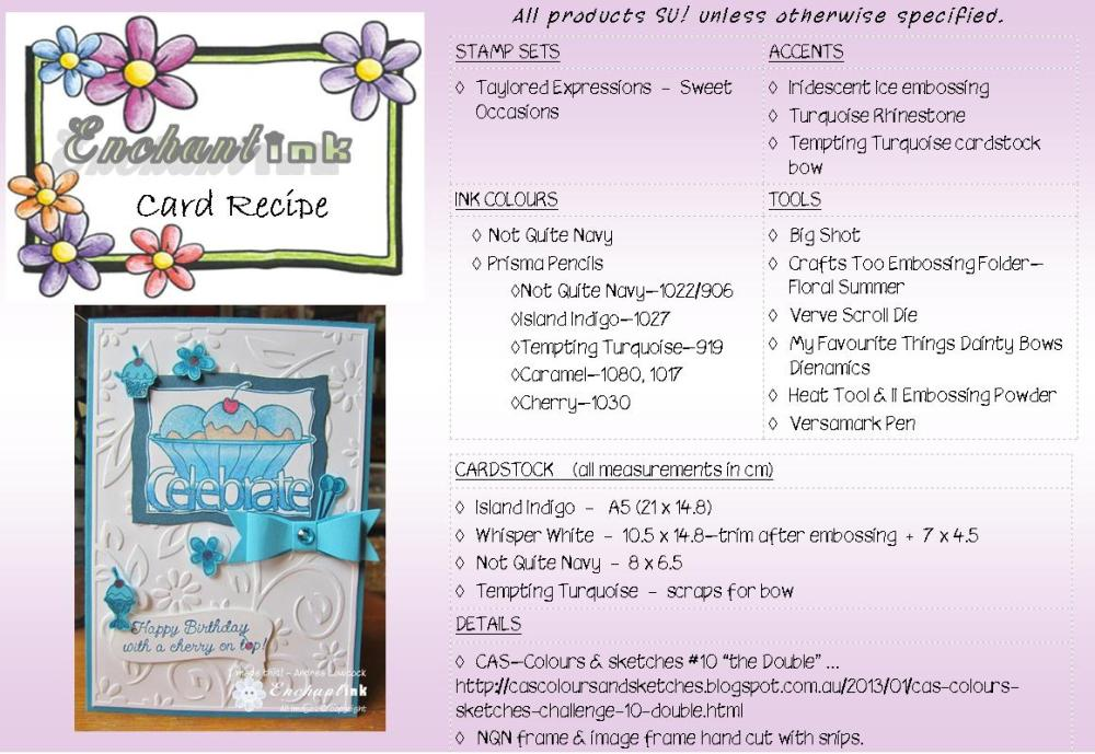 TE Sweet Occasions RS'13 recipe