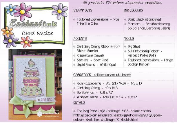 You Take the Cake - JH'13 recipe