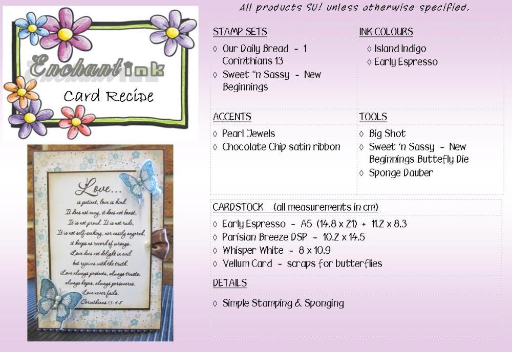 SNS New Beginnings Feb'13 recipe