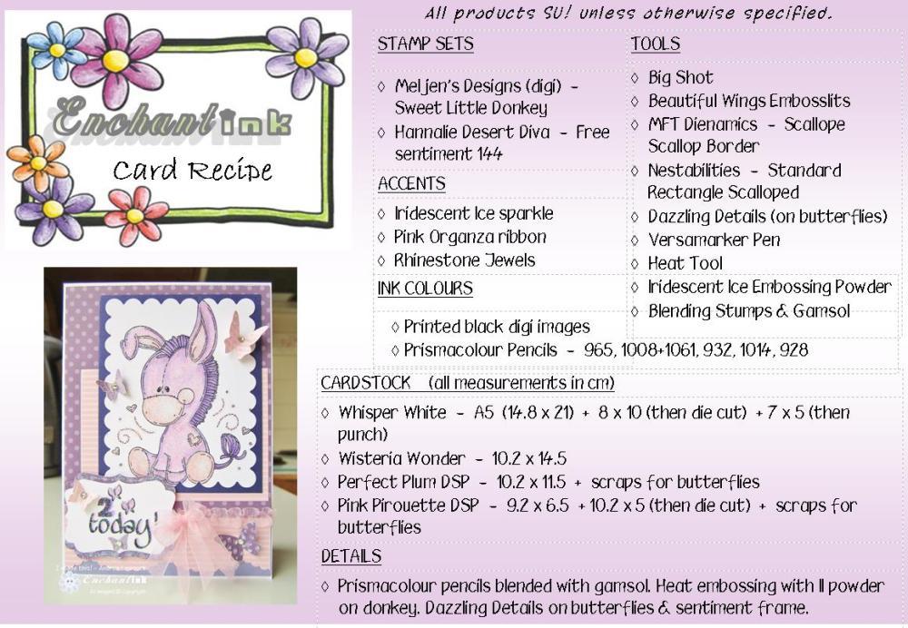 Meljen's Sweet Little Donkey - BA'13 recipe