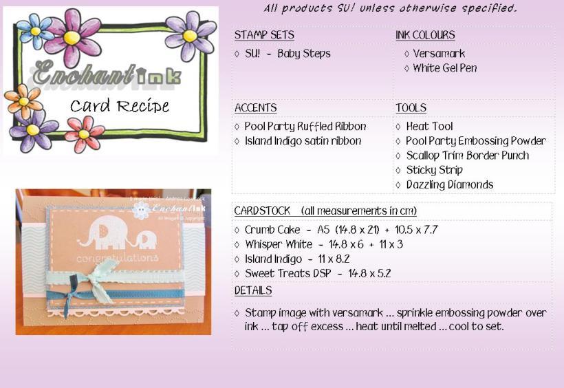 SU! Baby Steps - G&JI'13 recipe