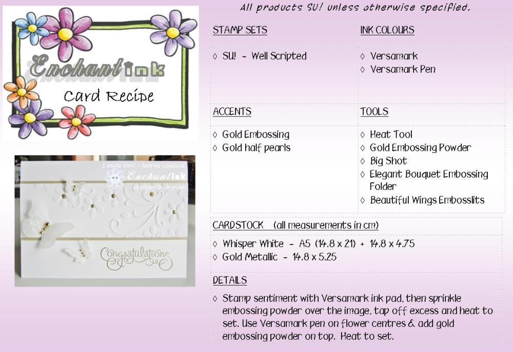 Well Scripted Wedding recipe