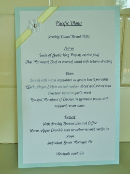 Reception Menus