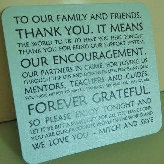 Thank You cards (from Pinterest)