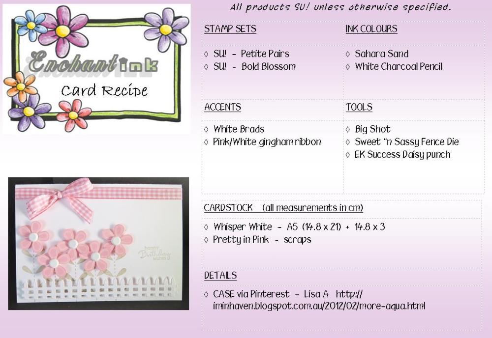 Pink Flowers LB'13 recipe