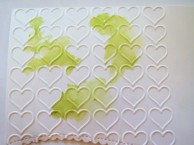 The shimmer card was 'dry embossed' using embossing folder & big shot before adding ink